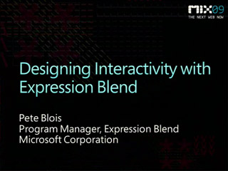Creating Interactivity with Microsoft Expression Blend