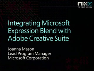 Integrating Microsoft Expression Blend with Adobe Creative Suite