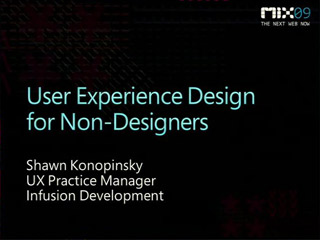 User Experience Design for Non-Designers