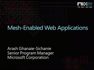 Mesh-Enabled Web Applications