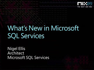 What's New in Microsoft SQL Data Services