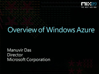 Overview of Windows Azure