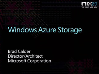 Windows Azure Storage