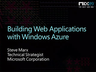 Building Web Applications with Windows Azure