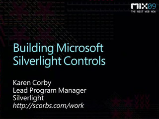 Building Microsoft Silverlight Controls