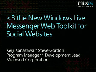 <3 the New Windows Live Messenger Web Toolkit for Social Websites