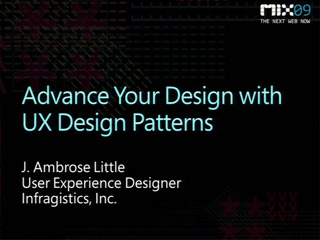 Advance Your Design with UX Design Patterns