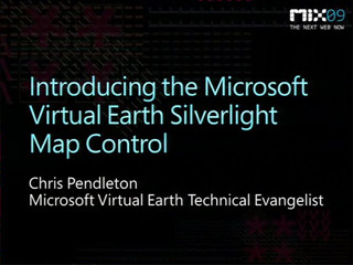 Introducing the Microsoft Virtual Earth Silverlight Map Control CTP