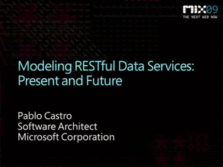 Modeling RESTful Data Services: Present and Future