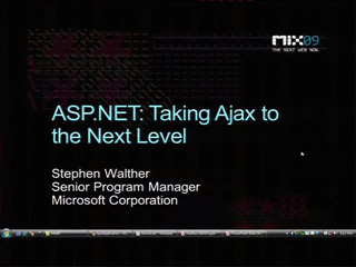 Microsoft ASP.NET: Taking AJAX to the Next Level