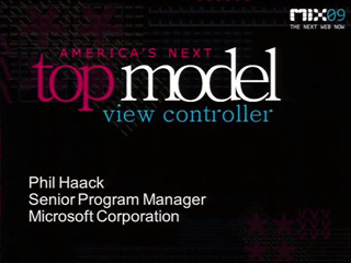 ASP.NET MVC: America's Next Top Model View Controller Framework