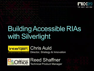 Building Accessible RIAs in Microsoft Silverlight