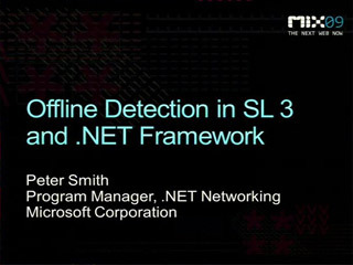 Offline Network Detection in Microsoft Silverlight 3