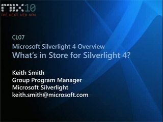 Microsoft Silverlight 4 Overview: What's in Store for Silverlight 4?