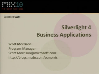 Microsoft Silverlight 4 Business Applications