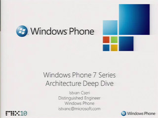 Windows Phone Application Platform Architecture