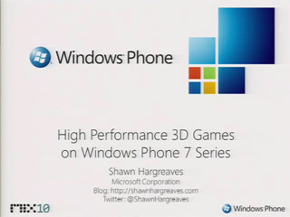 Building a High Performance 3D Game for Windows Phone