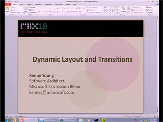 Dynamic Layout and Transitions for Microsoft Silverlight 4 with Microsoft Expression Blend