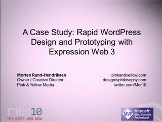 A Case Study: Rapid WordPress Design and Prototyping with Expression Web 3