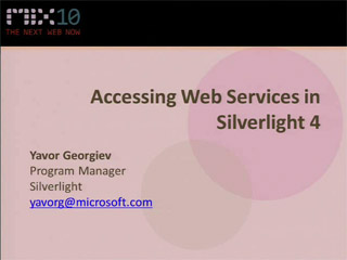 Accessing Web Services in Microsoft Silverlight