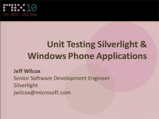 Unit Testing Silverlight and Windows Phone Applications