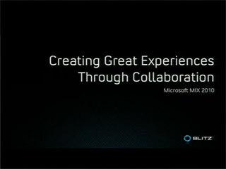 Creating Great Experiences through Collaboration