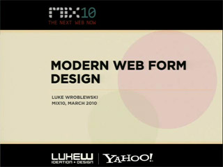Modern Web Form Design