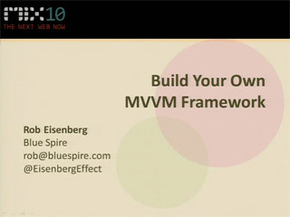 Build Your Own MVVM Framework