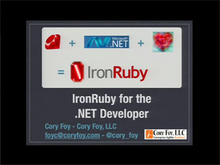 IronRuby for the .NET Developer