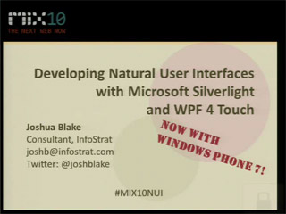 Developing Natural User Interfaces with Microsoft Silverlight and WPF 4 Touch