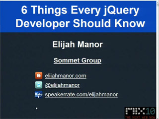 Six Things Every jQuery Developer Must Know