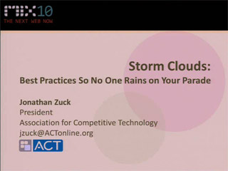 Storm Clouds: What to Consider About Privacy Before Writing a Line of Code