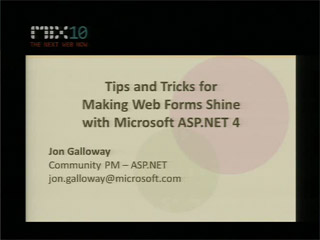 Tips and Tricks for Making Web Forms Shine with Microsoft ASP.NET 4