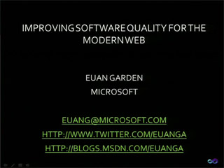 Improving Software Quality for the Modern Web