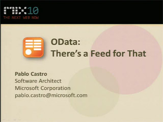 OData: There's a Feed for That
