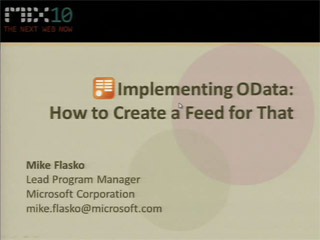 Implementing OData: How to Create a Feed for That