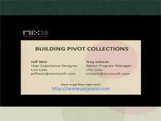 Building Pivot Collections