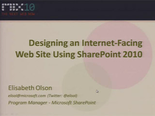 Designing an Internet-Facing Web Site Using SharePoint 2010