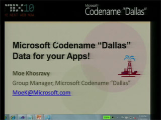"Microsoft Project Code Name ""Dallas"":  Data For Your Apps"