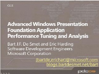 Advanced WPF Application Performance Tuning and Analysis