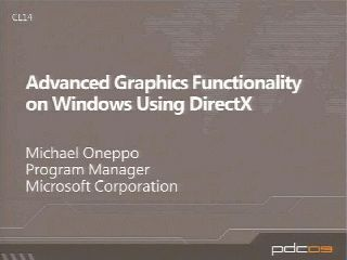 Advanced Graphics Functionality Using DirectX