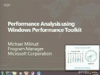 Optimizing for Performance with the Windows Performance Toolkit