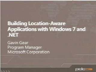 Building Sensor- and Location-Aware Applications with Windows 7 and .NET Framework 4