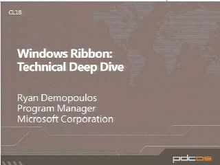 Windows Ribbon Technical Deep Dive