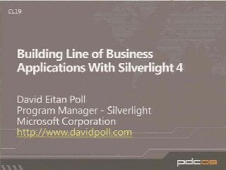 Building Line of Business Applications with Microsoft Silverlight 4