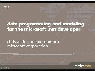 Data Programming and Modeling for the Microsoft .NET Developer