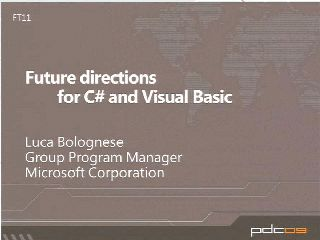 Future Directions for C# and Visual Basic