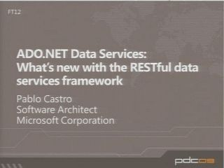 ADO.NET Data Services: What's new with the RESTful data services framework