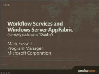 Workflow Services and Windows Server AppFabric