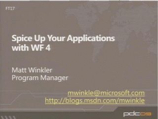 Spice Up Your Applications with Windows Workflow Foundation 4